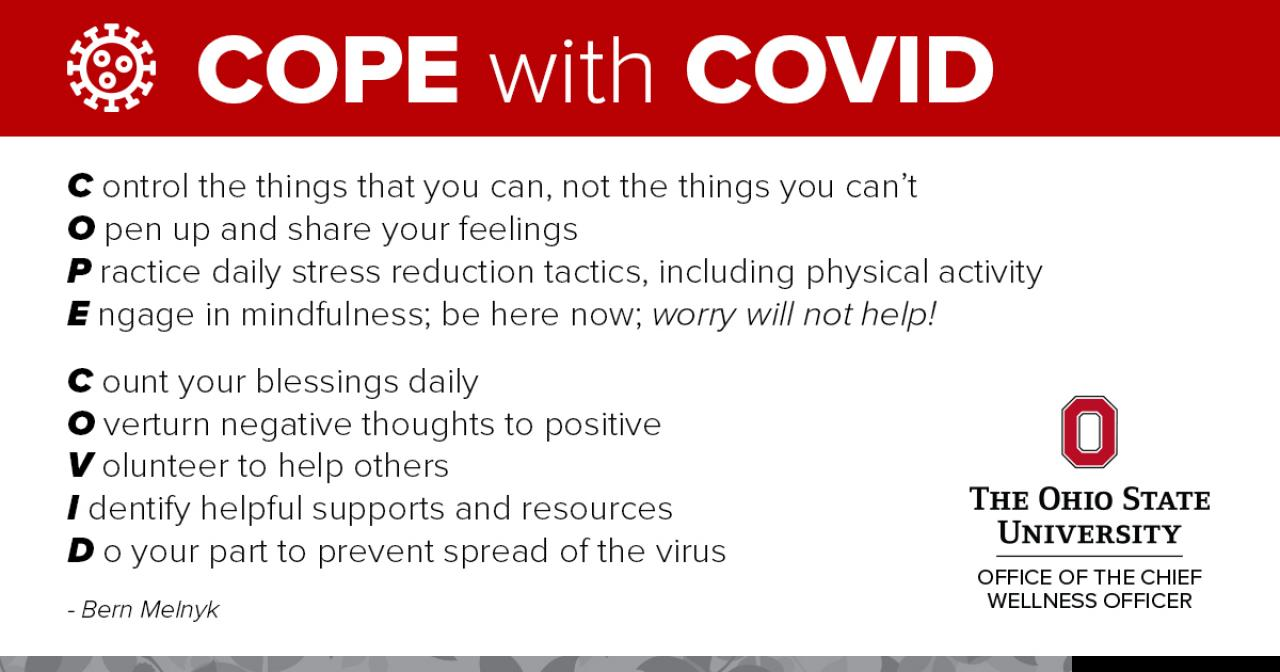 Strategies to Cope with COVID-19